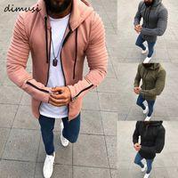 Sweats à capuche Homme Sweatshirts Dimusi Spring Automne Slim Slim Hommes Mans Mâle Casual Sportswear Streetwear Streetwear Vêtements 5XL, TA299