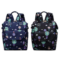 Waterproof Hot Air Balloon Printed Diaper Bag Mummy Maternity Large Nursing Travel Backpack Stroller Handbag Baby Care Nappy New