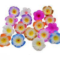 Handgemachte Plumeria Künstliche Schaum Frangipani-Blume Gefälschte Ei-Blumen für Hochzeit Coarge Kopfstück Fest-Ausgangsdekoration 06.04 / 8/10 cm