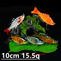 1pcs 15 Color 10cm 15. 5g Multi- section Fishing Hooks Fishhoo...