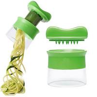 El Sebze Spiralizer Meyve Spiral Dilimleme Havuç Salatalık Rende Spiral Bıçak Kesici Salata Araçları Kabak Makarna Makinası GT75