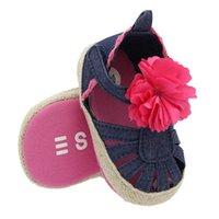 Baby sandals with soft bottom flowers