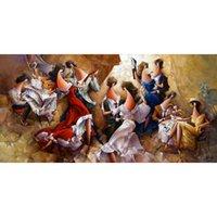 Ancora dipinti ad olio vita arte astratta Valzer Viennese moderno immagine decorazione della parete fatta a mano