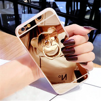Swhy mirror mount diamond call cell mobile phone case for Ip...