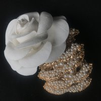 Classic pearl brooch fashion C symbol brooch pearl decorate ...