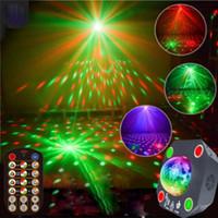 Luces de fiesta Disco Ball Luz estroboscópica con 120 patrones Proyector láser RGB Sonido Iluminación de DJ activada para Bar Xmas Wedding Show Club