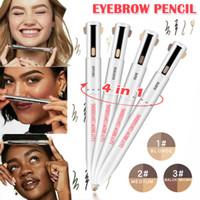 4-in-1 Facile à porter Contour Sourcils surligneur Brow Microblading Sourcils Contour Tattoo Pen Crayon à sourcils