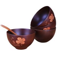 3 pezzi moda naturale giuggiola ciotola rotonda tazza di legno ciotola ciotola cucina di bambù fatti a mano bambini kid frutta riso zuppa ciotola strumento da pranzo caldo