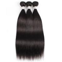 Couleur naturelle 3 Bundles Brésilien Droits Head Hair Tissu Sans tourned Double Extension de cheveux de trame Soft 10-26 pouces