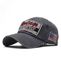 2020 Moda Eğilim Büyük Harfler İşlemeli Yüksek Dereceli Saf Pamuklu Yıkanmış Eski Kaplama Beyzbol Şapkası