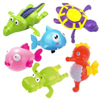 Creative Children Clockwork Toys Baby Bathing Water Wind Up ...