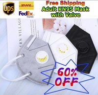 Double Valves Mask DHL UPS FedEx Fast Shipping Face Mask Wit...