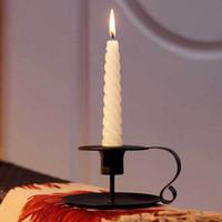 الحديد حامل شمعة حامل خمر ريترو ستايل كلاسيكي نظرة تفتق الشموع شمعة حامل الطراز الأوروبي المعادن شمعدان DBC VT0996