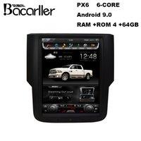 PX6 Android 9.0 Car DVD الوسائط المتعددة ل Dodge RAM 1500 مع راديو / GPS / Video / WiFi / AC Control