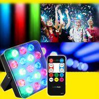 17 LED par lampes télécommande RVB Full Color LED Éclairage Éclairage KTV MARIAGE DE MARIAGE DE MARIAGE DE MARIAGE DJ Disco Party Lampe de projecteur