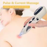 Yükseltilmiş Şarj edilebilir massagem acu kalem Noktası Dedektör Dijital Görüntü elektronik akupunktur iğnesi noktası uyarıcı makinesi