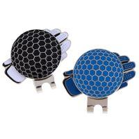 2 шт новинка перчатки выкройка для гольфа шляпа зажим W/ магнитный мяч маркер
