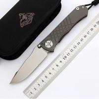كيفن M390 بليد الطي سكين جون cr umnumzaan التيتانيوم مقبض التخييم الصيد بقاء سكاكين الجيب الفاكهة مجموعة أدوات edc