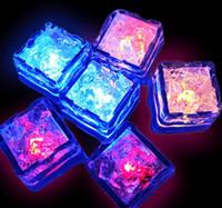 Aoto 색상 미니 로맨틱 루미 큐브 LED 인공 아이스 큐브 플래시 LED 라이트 웨딩 크리스마스 훈장 파티 WCW452