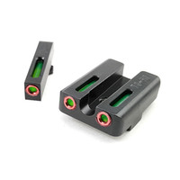 Roodgroene glasvezelfront met gevechts achteraf gezicht focus-vergrendeling voor G-pistolen 9 mm / .357 SIG .40 / 45