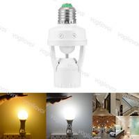 Lampenbasishalter mit PIR-Bewegungssensor 360 Grad 110V 220V Infrarot-Induktion E27 E14 B12-Lampenfassung für Glühbirne Epacket