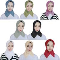 Muslim Women copertina Turbante interno Hijab sciarpe con oro Donna Solido Colore Plain underscarf protezione della sciarpa cotone mercerizzato signore Cappello YP764