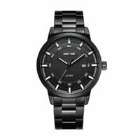 WEIDE Mann-Mode-Stunden-Kalender-Quarz-Vollstahl-Band-Militär beiläufige Armbanduhr Uhr Relogio Masculino Erkek Saat drop ship