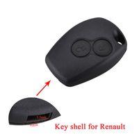 2 кнопки замена ключа автомобиля Shell для Renault Duster Clio Dacia 3 Twingo Logan Sandero Modus Key Case без лезвия.