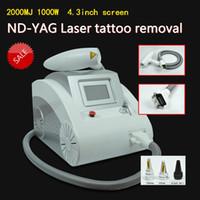 2000MJ écran tactile Q commuté ND YAG laser beauté machine de retrait de tatouage