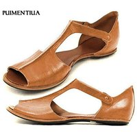 Sandali da donna Plus Size Summer Retro Fashion Bocca di pesce Flat Beach Shoes Open Toe caviglia fondo Sandali romani