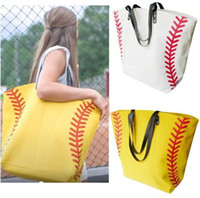 Canvas Softball-Taschen Handtaschen Baseball Totes im Freien Sporttasche Mode Strand-Tasche Fußball-Fußball-Basketball-Leinwand Große Kapazitäts-Tasche