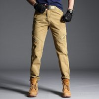 2019 New Brand Quality Mens Pants Casual Solid Loose Cargo P...