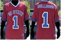 Özel Erkekler Gençlik kadınlar 1. Güney Carolina State Kadın Bulldogs'da Futbol Jersey boyut S-5XL veya özel herhangi bir ad veya numara forması