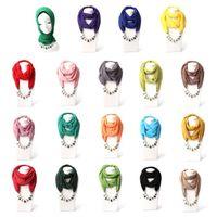Новые Ожерелья Подвески Длинное ожерелье Бусы Кулон Шарф Шейный платок Ожерелье Для женщин Бижутерия Этническая Платок Femme