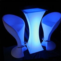 Mesa de cóctel luminosa de estilo moderno LED recargable iluminado en barra de barra impermeable Mesa de café Bar KTV Fiesta Suministro