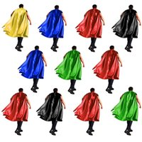 11 conceptions 90 * 140cm adultes grands enfants cape cosplay super-héros capes pour la fête de Noël Halloween cosplay prop costumes