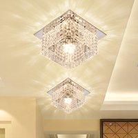 Quadratische LED-Scheinwerferlampe Modern Kristallglas 5W LED Deckenleuchten Wohnzimmer Foyer Korridor Porch Kristall Downlight Dia10cm