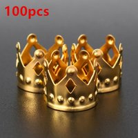 100pcs Metal Hair Braid Dread Dreadlock Beads Crown Hollow O...