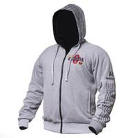 Hommes New Mode Gymnases Hoodies Fitness culturisme Sweatshirts Vêtements de sport Homme Workout Hooded Tops Vêtements Veste