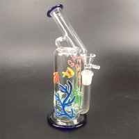 Glass Beaker Bong Luminous Oil Dab Rigs Inline Matrix Stereo...