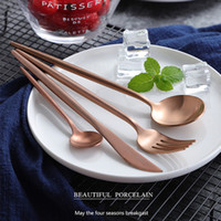 Ktl 24pcs Rose Gold Cutlery Champagne Pink Tableware Set 18 ...