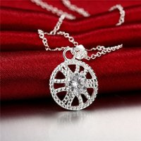 hot sale Diamond women' s sterling silver plate Necklace...