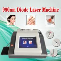 아름다움 기계 휴대용 피부 태그 제거 장치 거미 정맥 980nm 다이오드 레이저 혈관 제거 레이저 요법