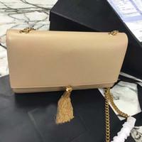Новая классическая цепная сумка сумка для сумки с кисточкой Сумки сцепления Женщины натуральная кожаная сумка сумка сумка для поперечиков