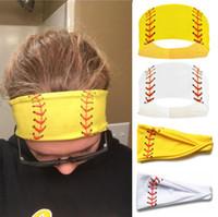 عرق 2020 الأزياء البيسبول الرياضة الكرة رباطات بنات اليوغا اللياقة البدنية للنساء اكسسوارات الشعر طباعة مناديل الجري على نطاق واسع البيسبول الشعر Hairband