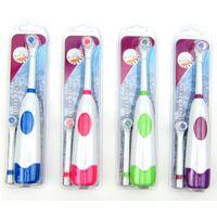 1 رؤساء مجموعة فرشاة الأسنان الكهربائية مع 2 فرشاة بطارية تعمل عن طريق الفم النظافة لا قابلة للشحن فرشاة الأسنان للأطفال