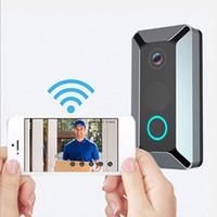 V6 HD WiFi Doorbell Camera Smart IP Video Intercom 720p Video Door Telefon Dörr klockkamera för Apartments IR Alarm Trådlös säkerhetskamera
