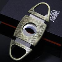 L'alta qualità del bronzo Ripple Style Cigar Cutter Gift Box cigaretter Accessory fumo di tabacco in metallo sigaro Knife