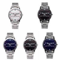 Trump Armbanduhren 5 Arten Trump 2020 Riemenuhr Retro Brief Gedruckt Männer Jungen Quarzuhr Uhren OOA7553-14