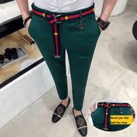 Брюки мужские зеленые штаны Mens Casual Pantalones Hombre Calça Masculina 2018 Белый Британский Стиль Red Social Club Slim Fit Tight
